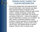 spanish music during the counter reformation