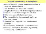logical consistency of deceptions