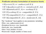 predicate calculus formulation of resource facets