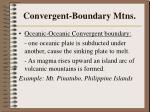 convergent boundary mtns