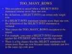 too many rows