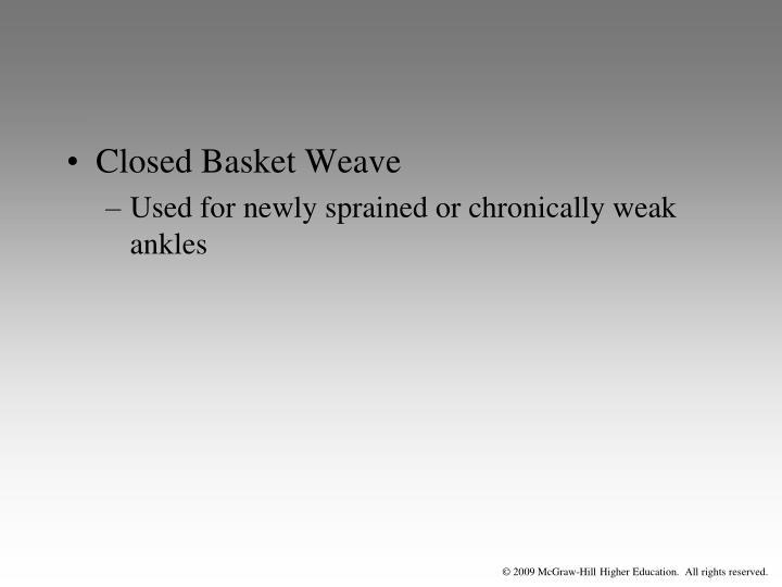 Closed Basket Weave