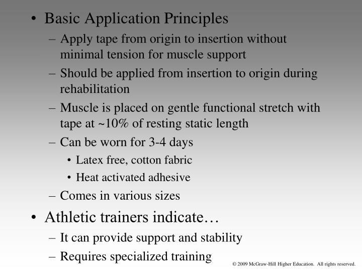 Basic Application Principles
