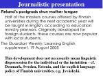 journalistic presentation