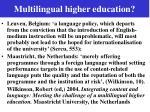 multilingual higher education