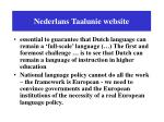 nederlans taalunie website