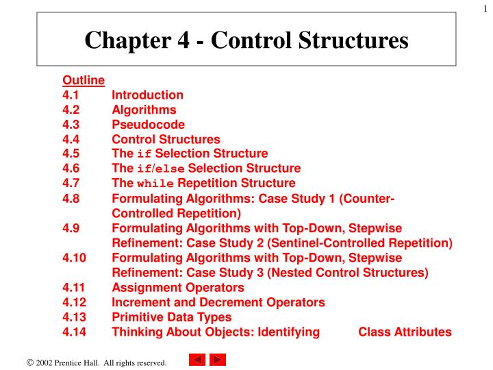 chapter 4 control structures n.