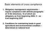 basic elements of cross compliance