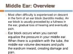 middle ear overview