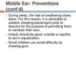 middle ear preventions cont d