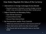 how states regulate the value of the currency