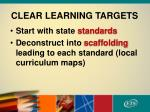 clear learning targets1