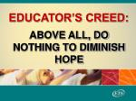 educator s creed
