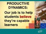 productive dynamics