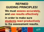 refined guiding principles