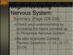 begin reviewing nervous system