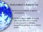 naturalism s response
