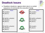 deadlock issues