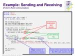 example sending and receiving point to point communication