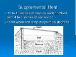 supplemental heat