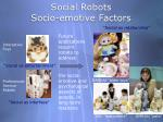 social robots socio emotive factors