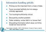 information handling pitfalls1