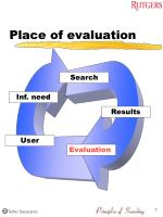 place of evaluation