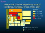 attack rate of acute hepatitis by zone of residence baripada orissa india 2004