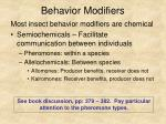 behavior modifiers