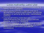 local authority land use