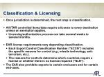 classification licensing