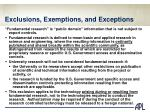 exclusions exemptions and exceptions1