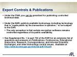 export controls publications