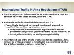 international traffic in arms regulations itar