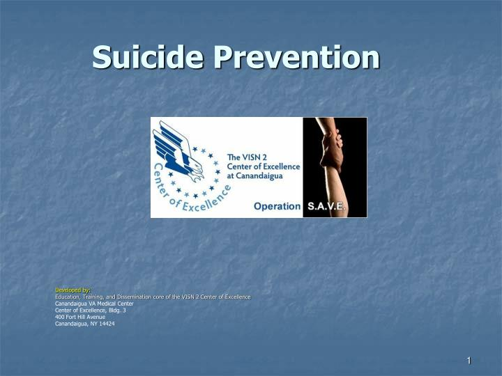 suicide prevention n.