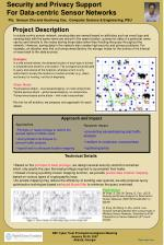 security and privacy support for data centric sensor networks