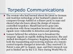 torpedo communications