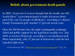 beliefs about government death panels