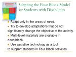 adapting the four block model for students with disabilities1