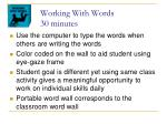 working with words 30 minutes