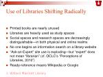 use of libraries shifting radically