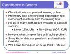 classification in general