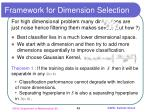 framework for dimension selection