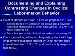 documenting and explaining contrasting changes in cyclical labor market behavior