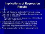 implications of regression results
