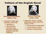 fathers of the english novel