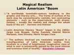 magical realism latin american boom