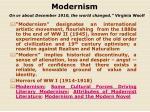 modernism