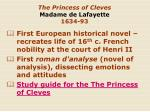 the princess of cleves madame de lafayette 1634 93