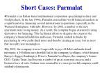 short cases parmalat